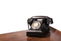 Vintage uk general post office director telephone handset micro telephone circa Royalty Free Stock Image