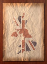 Vintage UK map on paper craft Royalty Free Stock Photography
