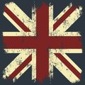 Vintage United Kingdom of Great Britain and Northern Ireland flag tee print vector design