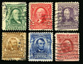 Vintage US Postage Stamps 1902 Royalty Free Stock Photo