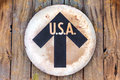 Vintage USA direction sign Royalty Free Stock Images