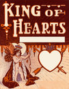 Vintage Valentine King of Hearts background Royalty Free Stock Image