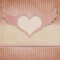 Vintage Valentine's day background with heart Stock Photography