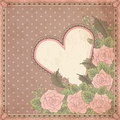 Vintage valentines day greeting card vector illustration Stock Photography
