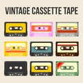 Vintage Vector Cassette Tape Collection