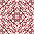Vintage vector checked seamless pattern with brushed lines in red and white. Texture in ethnic painterly style. Royalty Free Stock Photo
