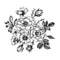 Vintage vector floral element
