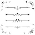 Vintage Vector Frame Border Divider Corner Royalty Free Stock Photo