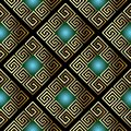 Vintage vector greek seamless pattern. Ornate geometric abstract Royalty Free Stock Photo