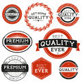 Vintage vector labels grouped and layered Royalty Free Stock Photography