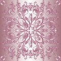 Vintage vector seamless pattern. Old renaissance style floral background. Repeat rose pink backdrop. Antique ornaments. Vintage Royalty Free Stock Photo