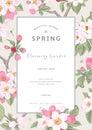 Vintage vector vertical card spring.