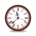 Vintage vector wall clock Stock Photography