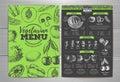 Vintage vegetarian menu design.