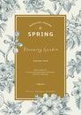 Vintage vertical spring card.