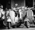 Vintage Vespa Piaggio Royalty Free Stock Photo