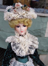 Vintage Victorian Porcelain Doll Royalty Free Stock Photography