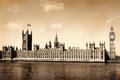 Vintage view of london england retro images Royalty Free Stock Image