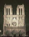 Vintage view of notre dame de paris france great Stock Photo