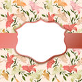 Vintage vignette on a floral background Royalty Free Stock Photo