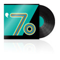 Vintage vinyl 70's Royalty Free Stock Photos