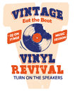 Vintage vinyl music and sound illustration clip art for entertaiment and party Royalty Free Stock Photos
