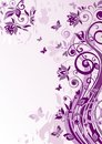 Vintage violet banner