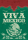 Vintage viva mexico mexican holiday vector poster grunge effects can be easily removed Royalty Free Stock Photo