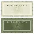 Vintage voucher coupon template with border guilloche pattern watermarks and this background design usable for gift certificate Royalty Free Stock Photo