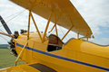 Vintage 1930 WACO Taperwing Biplane Royalty Free Stock Photo