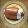 Vintage wall with american football Stock Photo