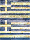 Vintage wall flag of Greece Stock Photo
