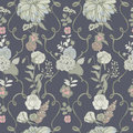 Vintage wallpaper background. floral seamless pattern with flowers. colorful vector illustration. Royalty Free Stock Photo
