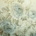 Vintage wallpaper with blue floral victorian pattern Royalty Free Stock Photo