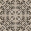 Vintage wallpaper damask flower pattern Royalty Free Stock Photo