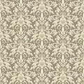 Vintage wallpaper damask pattern