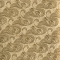 Vintage wallpaper gold used in with floral curls natural grainy surface Royalty Free Stock Image