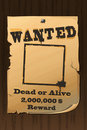 Vintage Wanted Poster Royalty Free Stock Photo