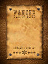 Vintage wanted poster Royalty Free Stock Photography