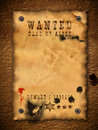 Vintage wanted poster Stock Photo