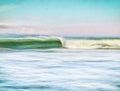 Vintage Wave Royalty Free Stock Photo
