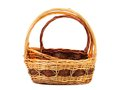 Vintage weave wicker basket isolated on a white background Royalty Free Stock Images
