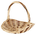 Vintage weave wicker basket isolated on white background Royalty Free Stock Photos