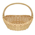 Vintage weave wicker basket isolated on white background Stock Photography