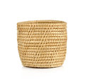 Vintage weave wicker basket isolated on white background Royalty Free Stock Photo