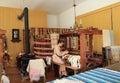 Vintage Weaving Workshop Royalty Free Stock Photo