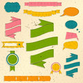 Vintage website design elements set. Royalty Free Stock Photo