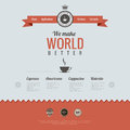 Vintage website design template coffee theme htm retro style html Royalty Free Stock Photography