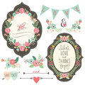 Vintage Wedding Flora Frame Royalty Free Stock Photo