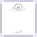 Vintage wedding frame with bird Royalty Free Stock Photo